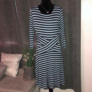 EEI- Blue and Black dress, L